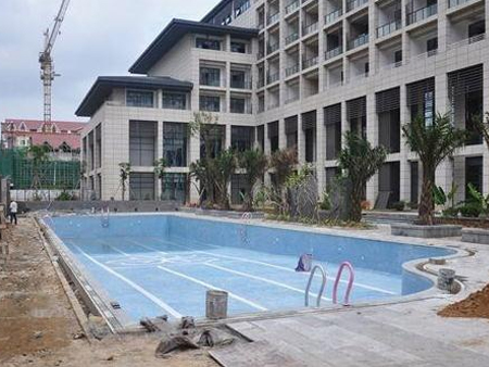崇州河之洲泳池工程